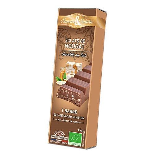 Saveurs & Nature Chokoladebar Lys Ø Fransk Nougat