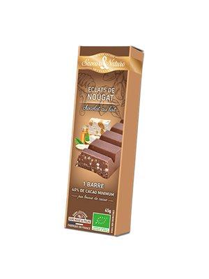 Chokoladebar lys Ø fransk nougat