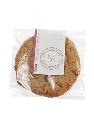 Cookie m. hvid chokolade & hindbær Ø