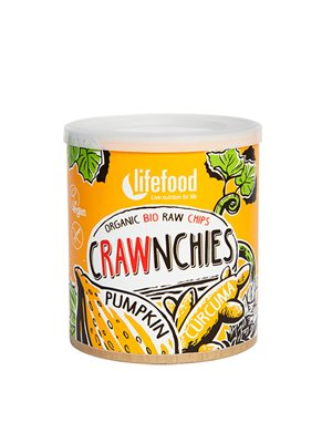 Crawnchies RAW chips Ø m. Græskar & Gurkemeje