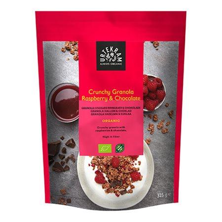 Crunchy Granola hindbær & chocolade Ø