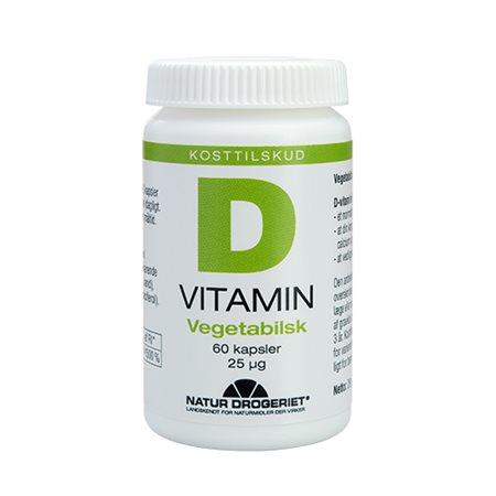 D3 vitamin 25 mcg vegetabilsk