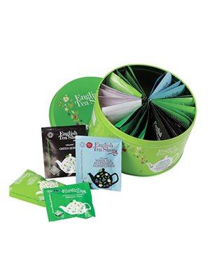 Dåse te Ø 30 breve blandet White & Green Tea Collection