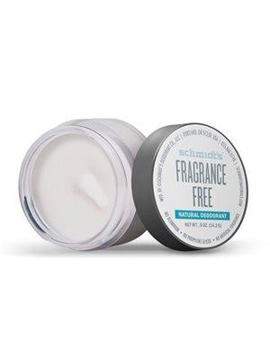 Deodorantcreme Fragrance Free Schmidt's natural deodorantcreme i krukke rejsestr