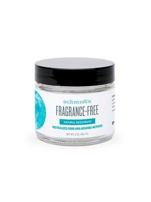Deodorantcreme Fragrance Free Schmidt's natural deodorantcreme i krukke