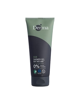 Derma Man shower gel body, face & har