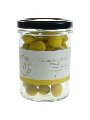 Dragé almond/passionsfruit Ø