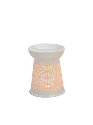 Duftlampe Blomst hvid H:13 cm / B: 10 cm