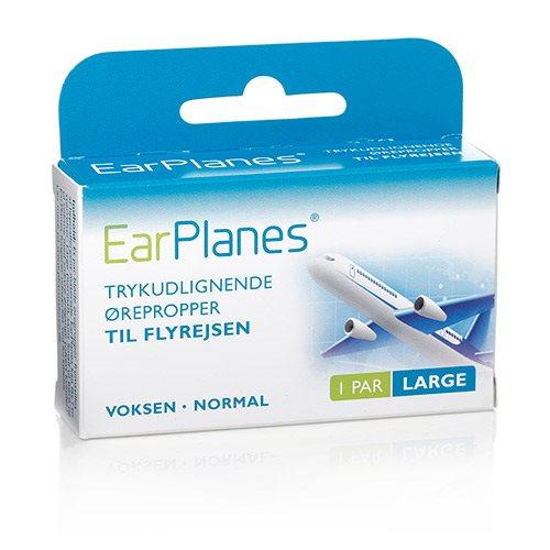 Billede af Earplanes - large 1 sæt Trykregulerende ørepropper af blød silikone