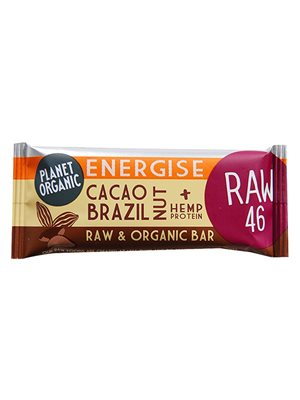 Energibar kakao og paranødder Raw Ø