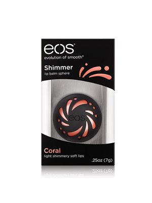 eos lipbalm Coral Shimmer