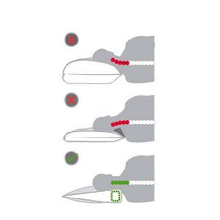 Ergonomisk hovedpude Grenat Fasthed: Ekstra Blød - Silvana Support
