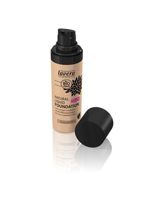 Foundation 03 Honey Sand  Natural Liquid Lavera Trend