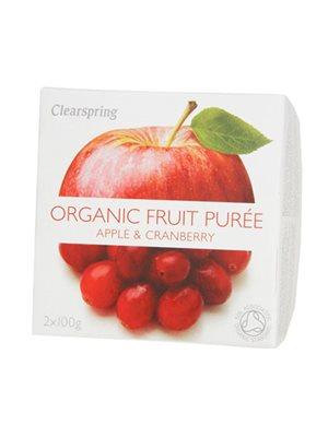 Frugtpuré æble, tranebær Ø