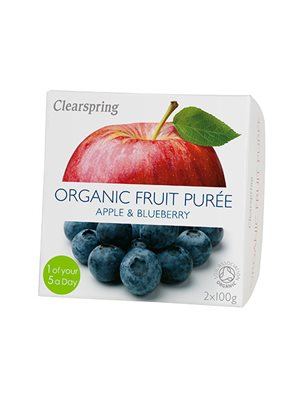 Frugtpuré blåbær, æble Ø
