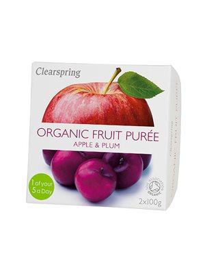 Frugtpuré blomme, æble Ø