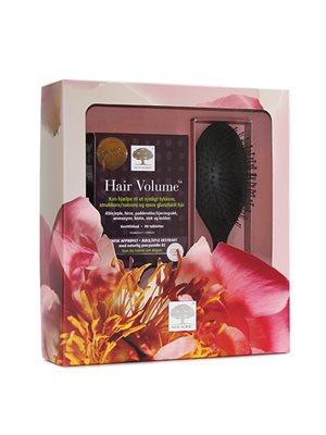 Gaveæske Hair Volume 90 tab + hårbørste værdi kr. 587,-