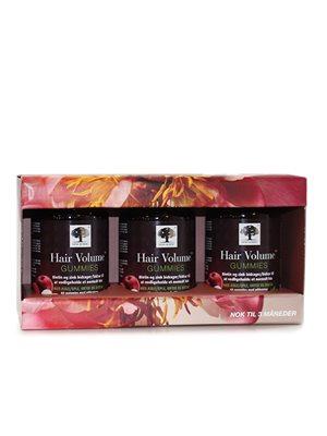 Gaveæske Hair Volume Gummies  3 x 60 gummies værdi kr. 567,-