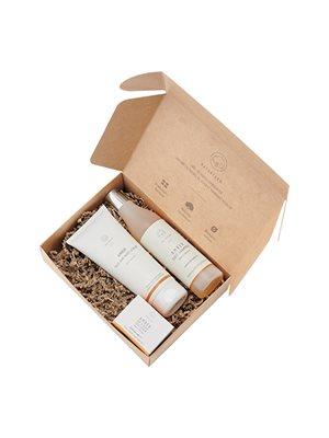 Gaveæske m. Amber Face Cream Face/Body Scrub GRATIS Shampoo