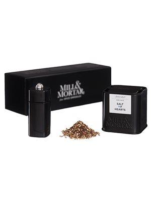 Gaveæske - Salt og Heart Ø  m. mini kværn - Mill & Mortar