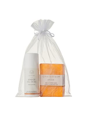 Gavepose Amber deo roll-on  + Amber cleansing bar