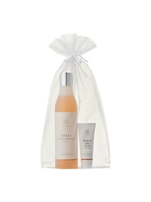 Gavepose Amber shower gel + Amber body lotion 25 ml