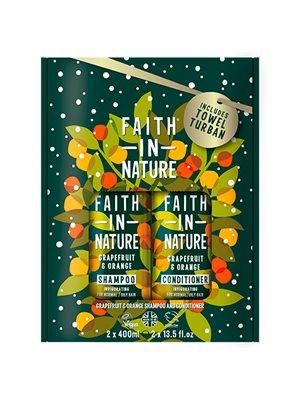 Gavesæt Grape & Orange Shampoo & Balsam Faith in Nat