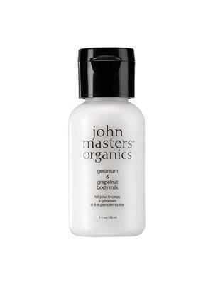 Geranium & grapefruit body milk travel John Masters
