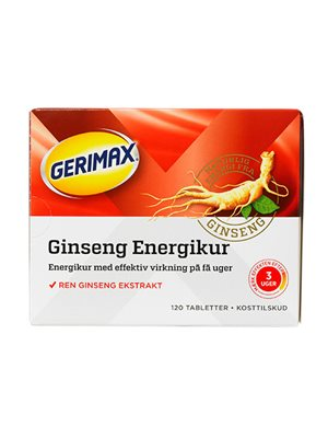 Gerimax Ginseng Energikur rød