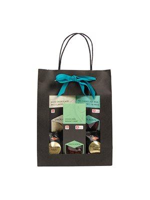 Gourmet gavepose blå Ø indh. udvalgte chokolader