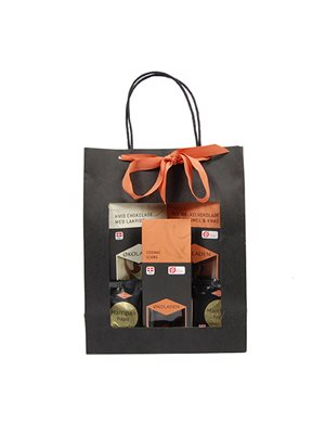 Gourmet gavepose orange Ø indh. udvalgte chokolader
