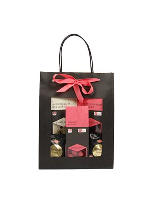 Gourmet gavepose pink Ø indh. udvalgte chokolader