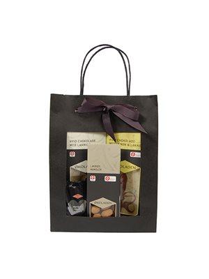Gourmet gavepose sort Ø indh. udvalgte chokolader m. lakrids