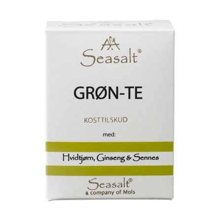 Grøn te m. hvidtjørn ginseng & sennes
