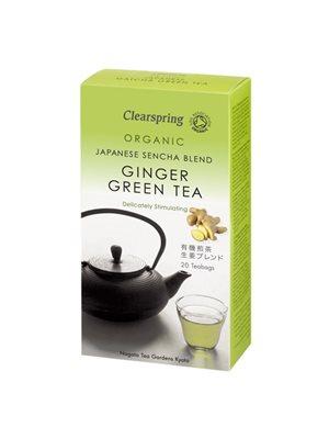 Grøn te m. ingefær Ø