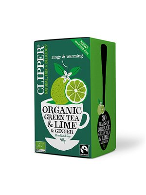 Grøn Te m. Lime & Ingefær Ø Clipper