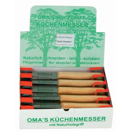 Grønsagskniv Oma med skaft i bøgetræ