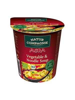 Grøntsags- og nuddelsuppe Ø Asiatisk instant