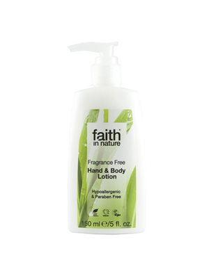 Hand & Body lotion Fragrance Free Faith in nature