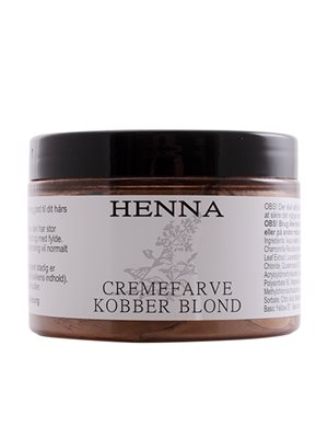 Henna cremefarve kobber blond