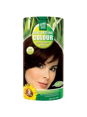Hennaplus 3.44 hårfarve  darkcopper brown Long Lasting Colour