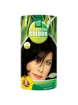 Hennaplus 3 hårfarve dark  brown Long Lasting Colour