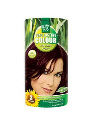 Hennaplus 4.67 hårfarve red  violet brown Long Lasting Colour
