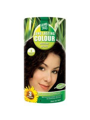 Hennaplus 4 hårfarve medium  brown Long Lasting Colour