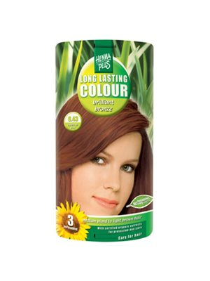 Hennaplus 6.43 hårfarve  brilliant bronze Long Lasting Colour