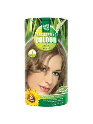 Hennaplus 7 hårfarve medium  blond Long Lasting Colour
