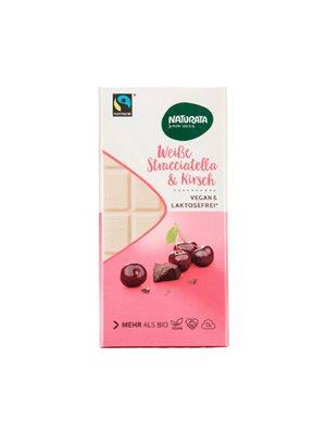 Hvid chokolade med kirsebær  laktosefri Ø Naturata