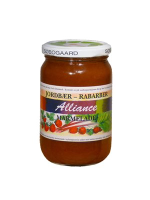 Jordbær/rabarber marmelade Ø