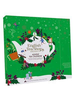 Julekalender grøn m. te Ø 25 æsker, 13 varianter ETS