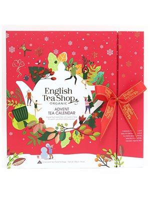 Julekalender rød m. te Ø 25 æsker, 13 varianter ETS